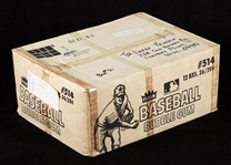 1980 Fleer Baseball Stickers Unopened Wax Case (12/36)