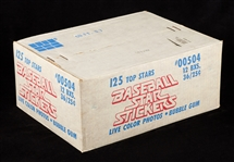 1981 Fleer Baseball Star Stickers Unopened Wax Case (12/36)