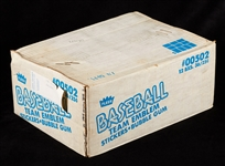 1981 Fleer Baseball Team Emblem Stickers Unopened Case (12/36)