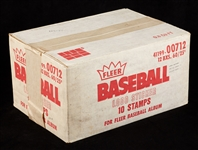 1982 Fleer Baseball Stickers Unopened Case (12/60)