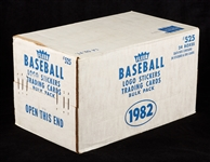 1982 Fleer Baseball Vending Sealed Case (24/500)