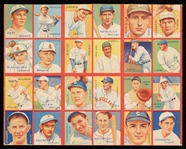1935 R321 Goudey 4-In-1 Uncut Panel With (8) HOFers - Foxx, Dean, Frisch