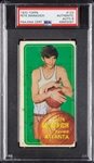 Pete Maravich Signed 1970-71 Topps RC No. 123 (Graded PSA/DNA 8)