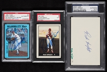 Ricky Wright Autograph Collection (SGC) (PSA/DNA) (3)