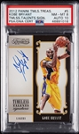 2012 Panini Timeless Treasures Kobe Bryant Timeless Talents Signatures PSA 8 (AUTO 10)