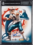 Dan Marino Signed 8x10 Photo (Graded BAS 10)