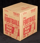 1987 Topps Football Rack Box Case (3/24)