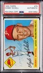 Danny Schell Signed 1955 Topps No. 79 (PSA/DNA)