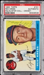 Red Kress Signed 1955 Topps No. 151 (PSA/DNA)