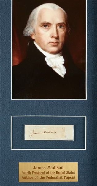 The Federalist Papers Display Signed by James Madison, Alexander Hamilton & John Jay (BAS)