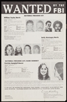 1974 FBI Wanted Poster for Patty Hearst, SLA Members
