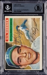 Gil Hodges Signed 1956 Topps No. 145 (BAS)