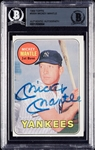 Mickey Mantle Signed 1969 Topps No. 500 (BAS)