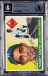 Sandy Koufax Signed 1955 Topps RC No. 123 (BAS)