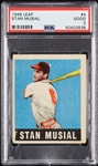 1948 Leaf Stan Musial RC No. 4 PSA 2