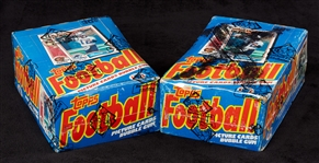 1982 Topps Football Wax Box Pair (2) (BBCE)