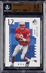 2000 SP Authentic Tom Brady RC No. 118 (801/1250) BGS 9.5