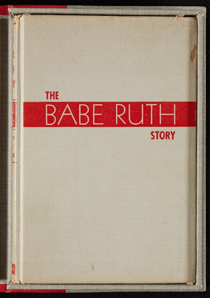 Babe Ruth Signed The Babe Ruth Story First Edition Presentation Copy Book (Graded BAS 10)