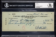 Babe Ruth Signed Check (1935) (Graded BAS 9)