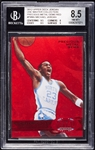 2012 Upper Deck Michael Jordan UNC Masters Collection Precious Metal Gems Red (11/100) BGS 8.5