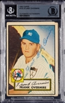 Stubby Overmire Signed 1952 Topps No. 155 (BAS)