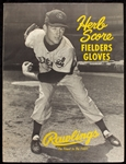 Herb Score 1950s Rawlings Glove Advertising Poster
