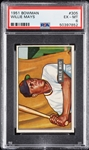 1951 Bowman Willie Mays RC No. 305 PSA 6
