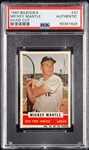 1960 Bazooka Mickey Mantle Hand-Cut PSA Authentic