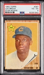 1962 Topps Lou Brock RC No. 387 PSA 4