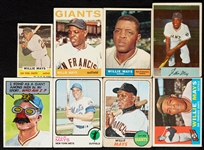 1954-73 Bowman and Topps Willie Mays Card Group (12)