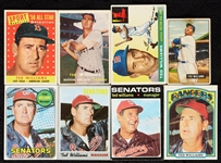 1951-72 Bowman and Topps Ted Williams Group (10)