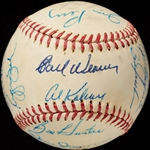 1971 American League All-Star Team-Signed Baseball with Thurman Munson (BAS)