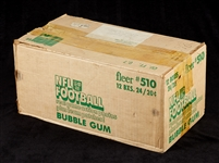 1980 Fleer Football Unopened Wax Case (12/24)
