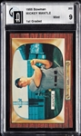 1955 Bowman Mickey Mantle No. 202 (1st Graded) GAI 9