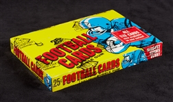 1975 Topps Football Cello Box (24) (Fritsch/BBCE)