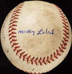 Mickey Lolich Career Win No. 6 Final Out Game-Used Baseball (4/18/1964) (BAS) (Lolich LOA)