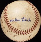 Mickey Lolich Career Win No. 10 Final Out Game-Used Baseball (6/10/1964) (BAS) (Lolich LOA)