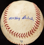 Mickey Lolich Career Win No. 14 Final Out Game-Used Baseball (7/18/1964) (BAS) (Lolich LOA)