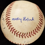 Mickey Lolich Career Win No. 18 Final Out Game-Used Baseball (8/18/1964) (BAS) (Lolich LOA)