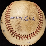 Mickey Lolich Career Win No. 32 Final Out Game-Used Baseball (7/8/1965) (BAS) (Lolich LOA)