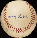 Mickey Lolich Career Win No. 36 Final Out Game-Used Baseball (9/17/1965) (BAS) (Lolich LOA)