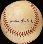 Mickey Lolich Career Win No. 47 Final Out Game-Used Baseball (7/26/1966) (BAS) (Lolich LOA)