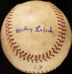 Mickey Lolich Career Win No. 51 Final Out Game-Used Baseball (8/24/1966) (BAS) (Lolich LOA)