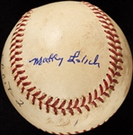 Mickey Lolich Career Win No. 67 Final Out Game-Used Baseball (4/29/1968) (BAS) (Lolich LOA)