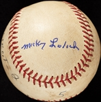 Mickey Lolich Career Win No. 71 Final Out Game-Used Baseball (6/12/1968) (BAS) (Lolich LOA)