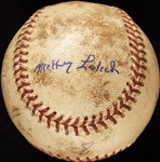 Mickey Lolich Career Win No. 75 Final Out Game-Used Baseball (8/10/1968) (BAS) (Lolich LOA)
