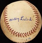 Mickey Lolich Career Win No. 79 Final Out Game-Used Baseball (8/29/1968) (BAS) (Lolich LOA)