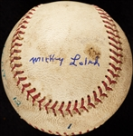 Mickey Lolich Career Win No. 84 Final Out Game-Used Baseball (4/10/1969) (BAS) (Lolich LOA)