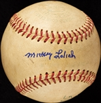 Mickey Lolich 500th Career Strikeout Game-Used Baseball (1965) (BAS) (Lolich LOA)