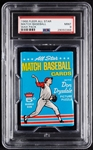 1966 Fleer All Star Match Baseball Wax Pack (Graded PSA 9)